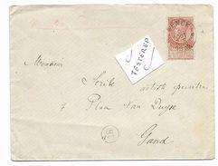 Sterstempel/cachet étoile   * GENCK * 1895    ENTIER/POSTWAARDE 10 CT   Cachet  GAND ARRIVEE  R! - 1893-1900 Barbas Cortas