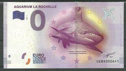Billet Touristique 0 Euro 2016 Aquarium La Rochelle  Requin - EURO