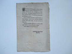 Erlass / Dekret / Verordnung 1802 Würzburg. Ankündigung Wertheimer Scheidemünze. Landmünze Außer Cours - Decrees & Laws