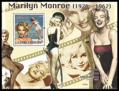 ST THOMAS AND PRINCE 2009 FILMS MARILYN MONROE MUSIC DANCE M/SHEET MNH - Sao Tome And Principe