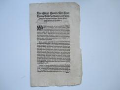 Erlass / Dekret / Verordnung 1780 Wirzburg Franz Ludwig Von Erthal Bischof Zu Bamberg Und Wirzburg. Römisches Reich - Gesetze & Erlasse
