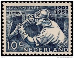 ~~~ Netherlands 1952 - Mining / Mijnwerker  - NVPH 582 ** MNH ~~~ - Nuovi