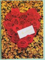 "Poland 1999 Postcard """"flowers Roses Shape Of Heart"""" To England - Zodiac Cancer (x5) - Poland"