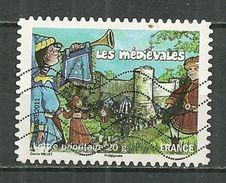 FRANCE Oblitéré 569 Tradition Des Régions Médiévales De Provins Ile De France Danse Joueur De Trompette Musique Musicien - Adhésifs (autocollants)