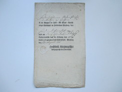 Feuer - U. Brand Gesellschafft Fürstenthum Wirzburg 1781. Hochfürstl.Wirzburgisches Polizeigericht Des Obernraths.Siegel - Gesetze & Erlasse