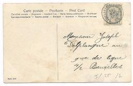 St. GILLES ( PLACE DU SUD )  1905  Op Fantasiekaart - 1893-1900 Schmaler Bart