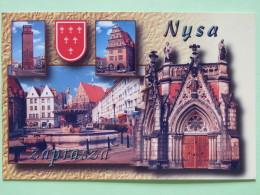 "Poland 1999 Postcard """"Nysa Church Arms"""" To England - Country Estates Oblegorku - Poland"