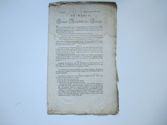 Im Namen SeinerMajestät Des Königs Würzburg 1832 Verordnung / Dekret Im Bezug Auf Cholera Morbus. RRR - Decretos & Leyes