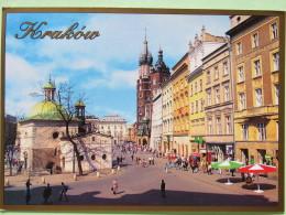 "Poland 1999 Postcard """"Cracow Main Market Square St. Adalbert Church St Mary Church"""" Krakow To England - Zodiac Aries - - Poland"
