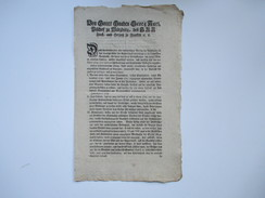 Dekret / Erlass / Würzburg 1797 Von Gottes Gnaden Georg Karl Bischof Zu Würzburg. Betrug Im Viehandel - Documentos Históricos