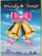 "Poland 1999 Postcard """"Christmas Bells"""" Zdunska Wola To England - Country Estates Bronowicach - Poland"