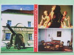 "Poland 1999 Postcard """"Chojnow Museum Cannon Sculpture Furniture"""" To England - Zodiac Sagittarius With Bow And Motorcyc - Poland"