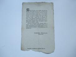 Dekret / Erlass / Würzburg 1802 Decretum. Verkauf Von Wolle / Keine Wolle Vor Jakobi Außer Land Zu Führen - Gesetze & Erlasse