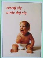 "Poland 1999 Postcard """"baby"""" Zakopane To England - Zodiac Sagittarius With Bow And Motorcycle - Poland"