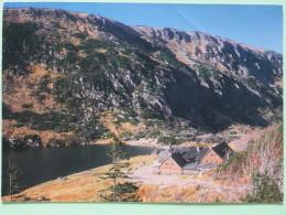 """Poland 1999 Postcard """"""""Karkonosze Mountains"""""""" To England - Zodiac Sagittarius With Bow And Motorcycle - Poland"""