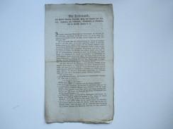Franz Ferdinand Königlicher Prinz Von Ungarn Und Böhmen, Erzherzog Von Österreich. 1806 Dekret über Fremde Scheidemünzen - Decrees & Laws