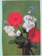 "Poland 1999 Postcard """"flowers"""" To England - Country Estates Bronowicach And Oblegorku - Poland"