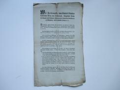Franz Ferdinand Kaiserlicher Prinz Von Österreich Königl. Prinz Von Ungarn Und Böhmen. 1810 Erlass über Steuern - Decrees & Laws