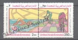 United Arab Emirates - Émirats Arabes Unis 1988 Yvert 250-51, Summer Olympic Games, Seoul - MNH - United Arab Emirates (General)
