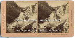 FOTO STEREOSCOPICA GREAT FALLS YELLOWSTONE NATIONAL PARK ANNO 1896 PHOTO JAMES M. DAVIS - Stereoscopi