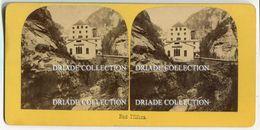 FOTO STEREOSCOPICA BAD PFAFERS ST. GALLEN SVIZZERA ANNO 1892 - Stereoscopi