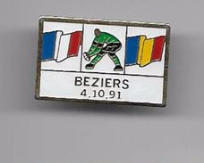 PINS  SPORTS RUGBY WORLD CUP BEZIERS  4 10 91 FRANCE ROUMANIE / 33NAT - Rugby