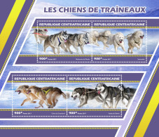 CENTRAL AFRICA 2017 ** Sledge Dogs Schlittenhunde Huskies M/S - OFFICIAL ISSUE - DH1727 - Other Means Of Transport