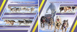 CENTRAL AFRICA 2017 ** Sledge Dogs Schlittenhunde Huskies M/S+S/S - OFFICIAL ISSUE - DH1727 - Other Means Of Transport