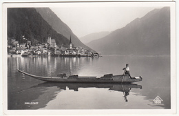 Fuhr (Punt) Near Hallstatt (Lake Hallstatt, Austria) Old Postcard Travelled 1954 Obertraun Pmk B170801 - Barche