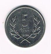 ) ARMENIE  5 DRAMS  1994 - Armenia