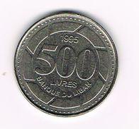 )  LIBANON  500  LIVRES  1995 - Liban