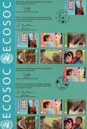 3 Encarts - FDC - ECOSOC - BAN KI MOON - SYLVIE LUCAS - Wien - Genève - New York - 2009 - APNU - Emissions Communes New York/Genève/Vienne