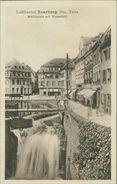 AK Saarburg, Marktplatz Mit Wasserfall, Ca. 1910er Jahre (13819) - Saarburg