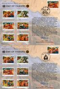 3 Encarts - FDC - Day Of Families - Wien - Genève - New York - KOFI A. ANNAN - 2006 - APNU - Emissions Communes New York/Genève/Vienne