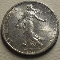 1918 - France - 1 FRANC, Semeuse, Argent, Silver, KM 844.1, Gad 467 - H. 1 Franc
