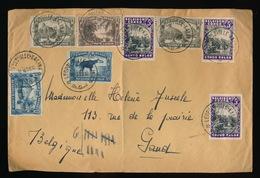 BRIEF / LETTRE 1939 -  VOIR : ZIE 2 SCANS - GROTE GEVOUWEN OMSLAG - 1923-44: Lettres