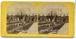 FOTO STEREOSCOPICA EXPOSITION UNIVERSELLE PARIS JARDIN CENTRAL ANNO 1867 - Stereoscopi