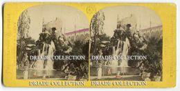 FOTO STEREOSCOPICA EXPOSITION UNIVERSELLE PARIS PARC FRANCAIS CASCADE ANNO 1867 - Stereoscopi