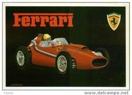 Auto Ferrari Dino 246 1958 6C.2417 CC F1 Grand Prix F1 Courues Automobilisme CPM Brovarone A. - Trading Cards