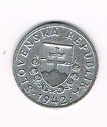 )  SLOVAKIA  20  HALIEROV  1942 - Slovaquie