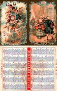 Calendrier De Poche, 1898, Biscuits Lefèvre-utile Lu, Danse Salon  Angelots - Calendriers