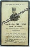 Faire Part Décès Photo Guerre 14-18 Militaire Régiment Croix Rouge Sanitaire Red Cross Military WW1 - Décès