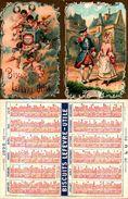 Calendrier De Poche, 1898, Biscuits Lefèvre-utile Lu, Promenade Angelots - Calendari