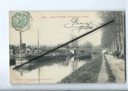 CPA  - 4937  - Anizy Pinon - Le Pont Sur Le Canal   - (Péniche , Péniches ) - Autres Communes