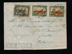 BRIEF / LETTRE NAAR GENT 193?     - ZIE : VOIR 2  SCAN - Congo Belge