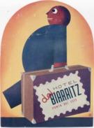 Étiquette D'Hotel : Hotel  Del Biarritz . - Vieux Papiers