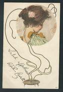 R. Kirchner. D 27.  Jolie Femme Dans Médaillon. Encens. Edition Originale, Voyagée. Voir Les 2 Scans. - Kirchner, Raphael
