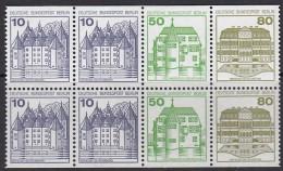 BERLIN Heftchenblatt 21, Postfrisch **, Burgen Und Schlösser 1982 - Berlin (West)