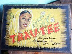 Teedose Blech Von Trau-Tee Aus Den 1950er Jahren - Dosen