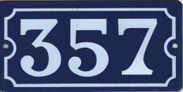 Plaque émaillée Rue 357 - Plaques émaillées (après 1960)